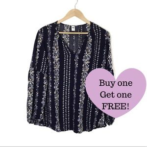 OLD NAVY Bubble Sleeve Blouse